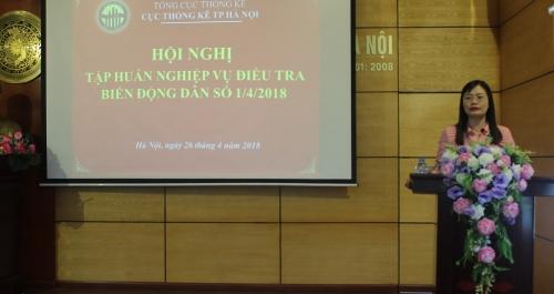 Hội nghị tập huấn nghiệp vụ Điều tra Biến động dân số và KHHGĐ 01/4/2018